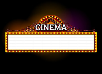 theater sign,cinema sign,light sign,frame light