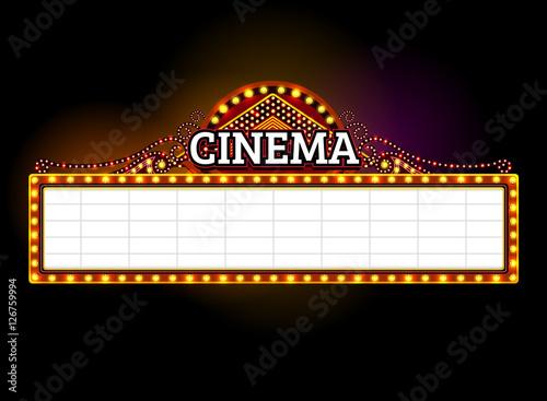 quottheater signcinema signlight signframe lightquot stock