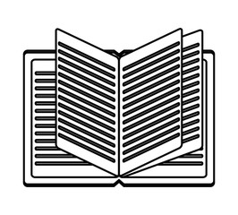 Books icon. Education literature read and library theme. Isolated design. Vector illustration
