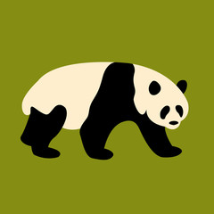 Panda vector illustration style Flat