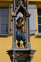 alte Brunnenfigur Landsknecht in Riedlingen