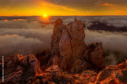 скалы горы закат  № 371262 бесплатно