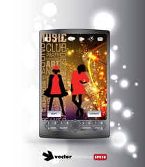 Smartphone with mobile app design