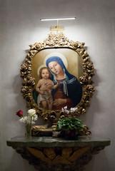 Madonna con bambino nella Basilica di Santa Croce in Gerusalemme, Roma