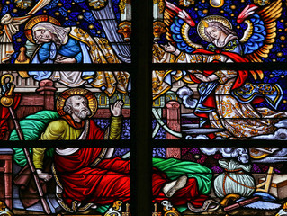 Fototapete - Stained Glass in Mechelen Cathedral