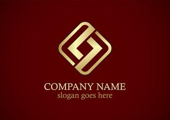 square letter s gold logo