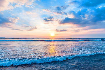Aluminium Prints Sea sunset Beautiful sea sunset