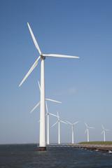 Poster Molens windturbine producing alternative energy