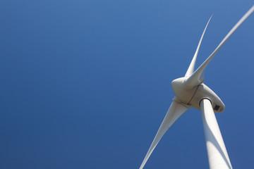 Single Wind Turbine with a clear blue sky
