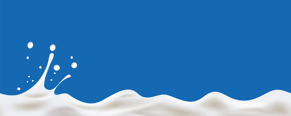 Cream Yogurt wave background