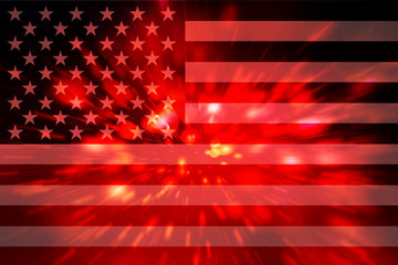 Abstract lights usa flag