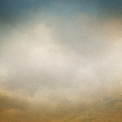 Vintage background with clouds and Paper texture.