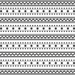 pattern monochrome with dots and lines vector illustration