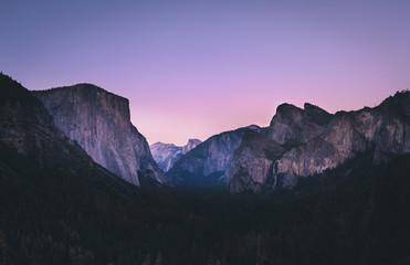 Poster Centraal-Amerika Landen Yosemite Sunset