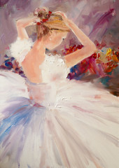 Art Oil-Painting Picture Ballerina