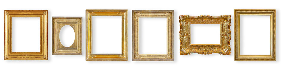 set antique, gilded frame Wall mural