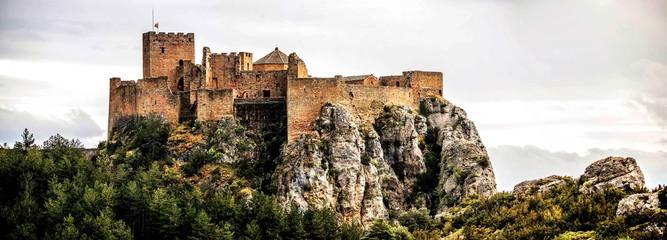 Loarre Castle in Huesca, Aragon in Spain. HDR Processing. Wall mural