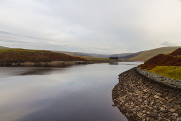 The Craig Goch Reservoir, on edge of Mid-Wales wilderness.