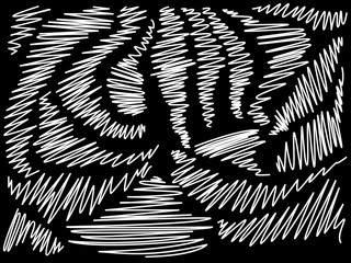 Chaotic scribble pen stroke. Abstract vector background.