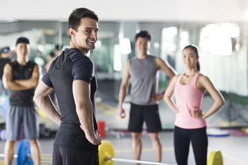 Portrait of fitness instructor at gym