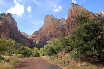 Zion canyon national park in USA