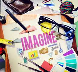 Imagine Creative Dream Expect Ideas Vision Concept