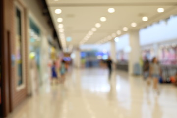 blurred image in department store for background usage .