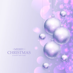 amazing merry christmas greeting background with realistic xmas