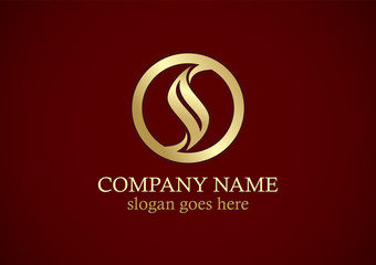 round curve gold company logo