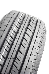 Car tires textured for background on white background. rubber