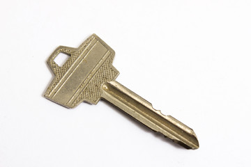 stainless keys isolated on white background