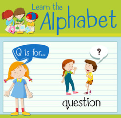 Flashcard letter Q is for question