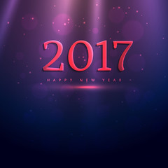 2017 elegant text style effect on purple shiny background