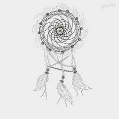 Dreamcatcher tattoo graphics