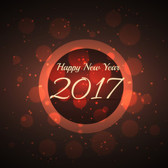 amazing shiny bokeh effect background for 2017 new year
