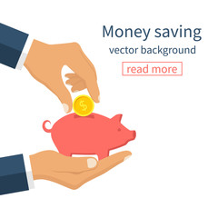 Money saving concept.
