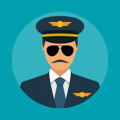 Pilot icon flat
