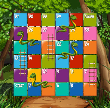 Board game snake and ladder