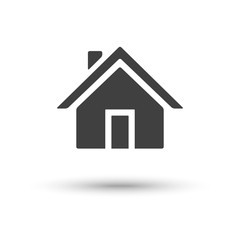 Vector home house icon isolated on white background