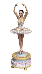 3D Rendering Ballerina