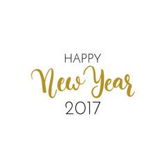 Happy New Year text.