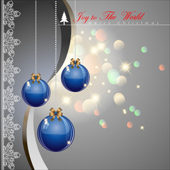 Abstract Christmas Background. Christmas Ball Concept. Illustration, EPS 10