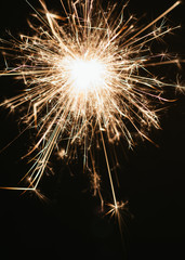 Sparkler on a black background