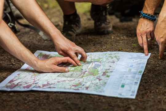 Navigating with map and compass