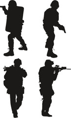 police swat silhouette