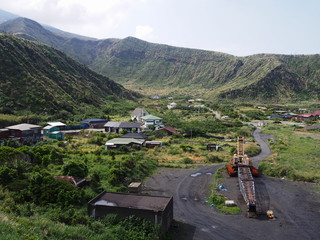 三宅島 三池集落(噴火により離村した集落)