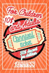 Color vintage Amusement park poster