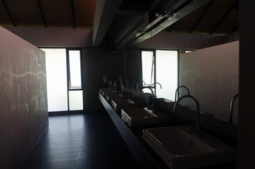 the dark public toilet