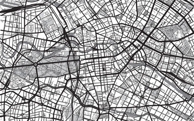 Urban city map of Berlin, Germany