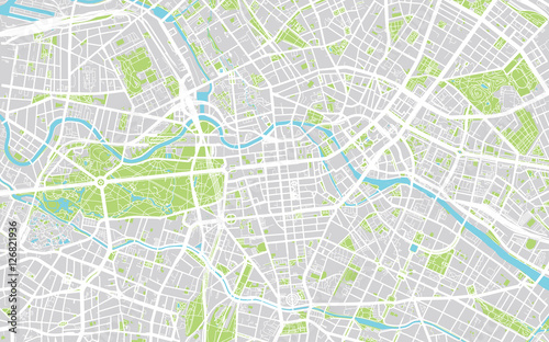 Urban city map of Berlin, Germany\